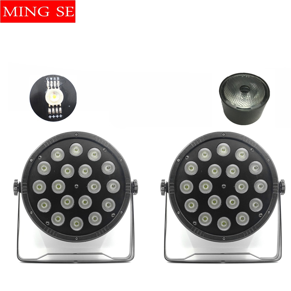 2pcs/lots 18x10W Flat LED Par Lights, 18*10w RGBW 4IN1 PAR DMX512 control disco lights professional stage DJ equipment free shipping 9x10w 30w flat led par lights 9 10w 30w rgbw 3in1 par dmx512 control disco lights professional stage dj equipment