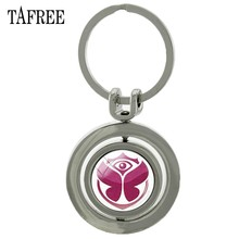 TAFREE Tomorrowland Revolving Pendant Keychain New Fashion Summer Electronic Music Festival Key Chain Keyring Fans Jewelry KC52(China)