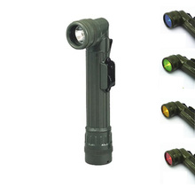 Portable LED Flash Light Red Green Blue Lantern Battery Torch Flashlight Fishing Working Camping Hunting