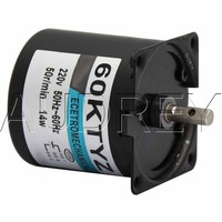 FREE SHIPPING Low speed micro permanent magnet synchronous motor 60KTYZ AC 220V 14w geared motor 2.5 to 110rpm