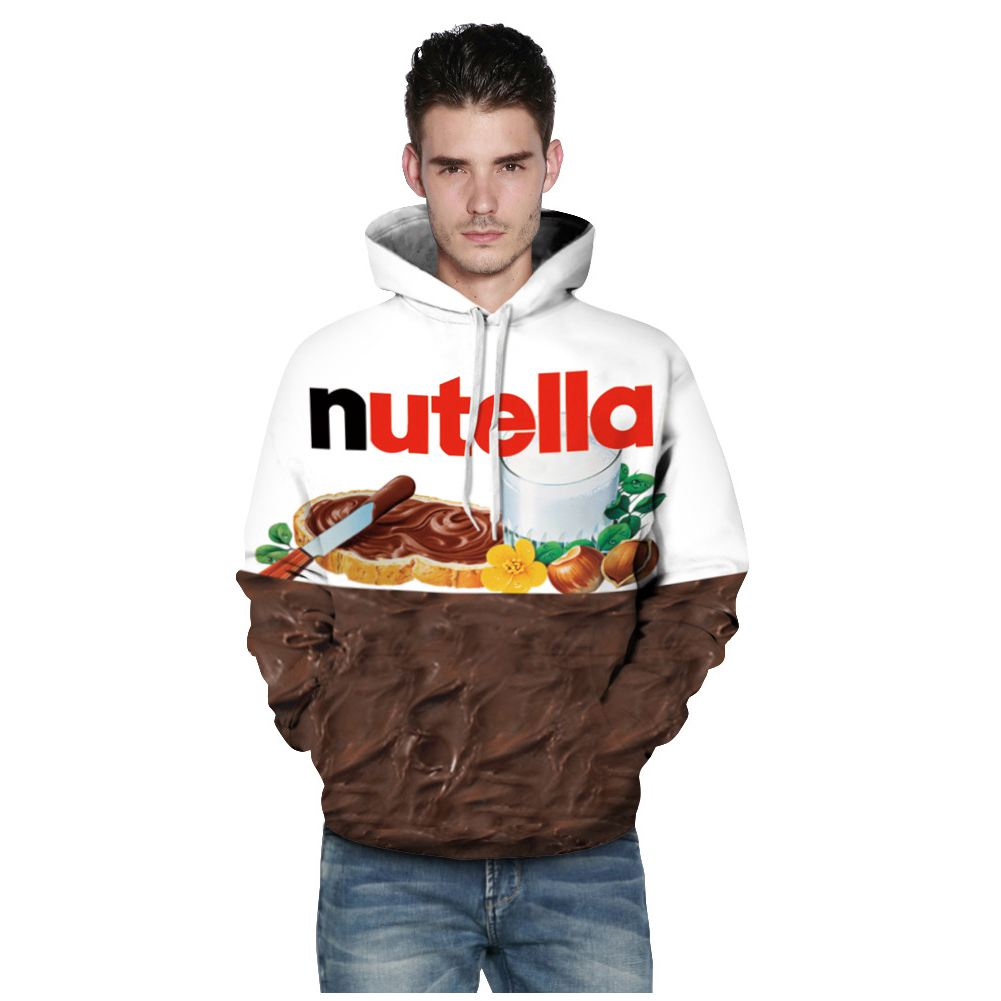 Men/Women New Fashion Spring Autumn Hoodies With Cap 3d Print Nutella Food Hip Hop Sweatshirts Hoodie Tracksuits Tops