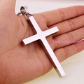 High Quality Simple Silver Gold Plated Stainless Steel Rock Punk Biker Big Cross Mens Pendant Chain Jewelry