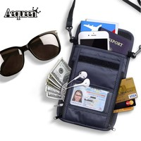 AEQUEEN Waterproof Travel Passport Cover Wallet Men Purse Organizer Multifunction Credit Card Holder Money Bag With