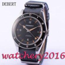 Casual 41mm Debert black dial date window sapphire glass miyota 821A Automatic movement men's Watch