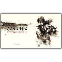 Rurouni-affiche en tissu de soie | Affiche imprimée samouraï Swordsman, image Anime, décoration de la maison, 30x53cm 50x 89cm