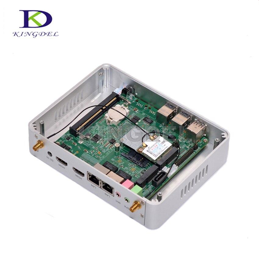 Самая низкая цена без вентилятора Мини-ПК с NUC Intel Core i3 4005u Мини рабочего Оконные рамы 10 HTPC 300 м WIFI HDMI VGA графика 4400 HTPC