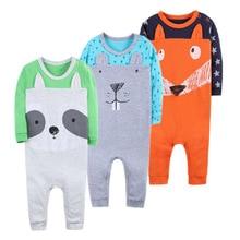 Купить с кэшбэком Spring Baby Rompers High quality Boy Girl Clothes Long Sleeves Comfortable Baby Pajamas Kawaii Animal rabbi model Kid Jumpsuit