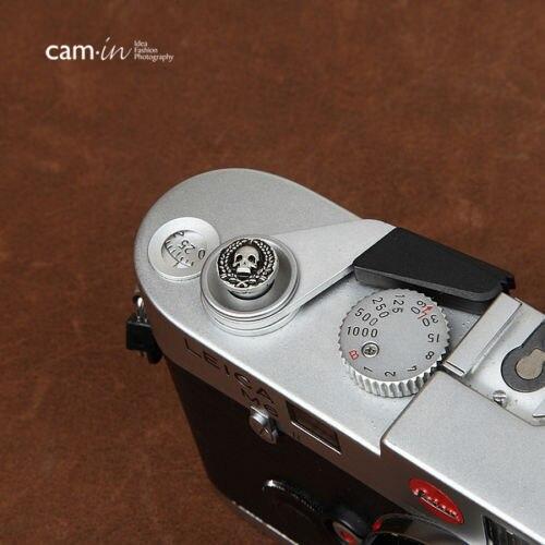 10mm Cam-in Soft release shutter button For Leica Contax Fujifilm CAM9111 skull