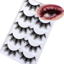 Новая партия из 5 пар 3D норки волосы Накладные ресницы тонкими натуральных длинных гламурные ресницы тестировалось на многоразовые средство для увеличения глаз инструменты для макияжа