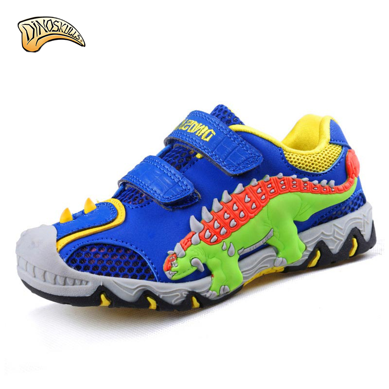 2017 new Children Shoes Sport Breathable Boys Sneakers Brand Kids Shoes for boys cute dinosaur Casual Child Flat Boots 27-34 breathable children shoes girls boys shoes new brand kids leather sneakers sport shoes fashion casual children boy sneakers