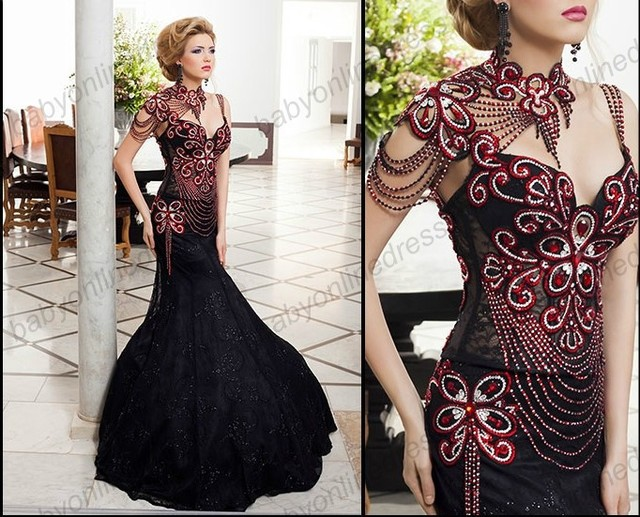 Wholesale 2014 Graceful Mermaid Party Arabic Pageant Prom Gown ...