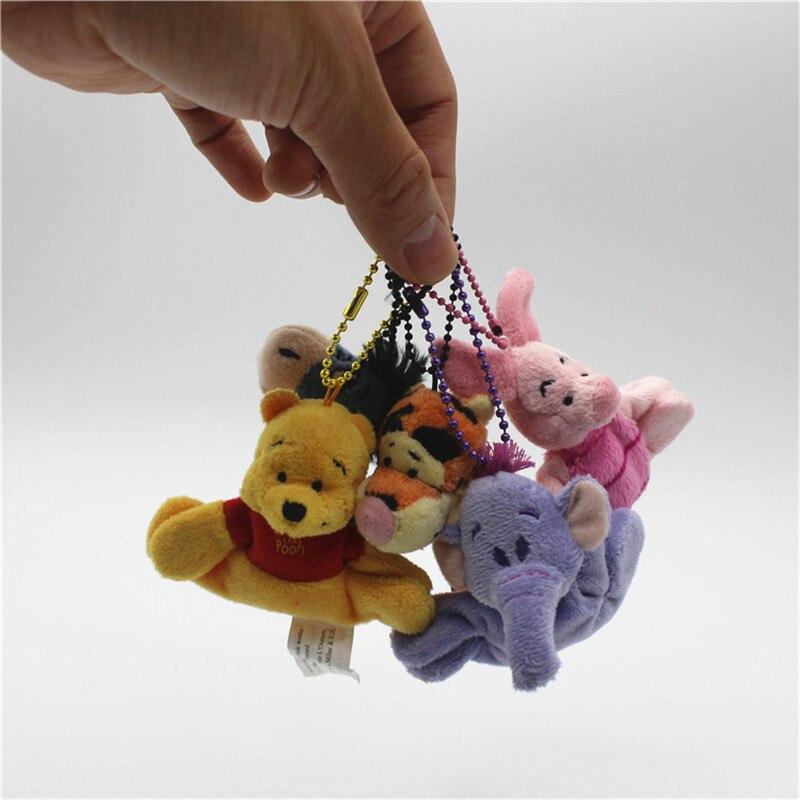5 Piece/lot  6-8cm Cute Bear Tigger Tiger Piglet Pig Eeyore Donkey Heffalump Pendant  Toys  Keychain Toys