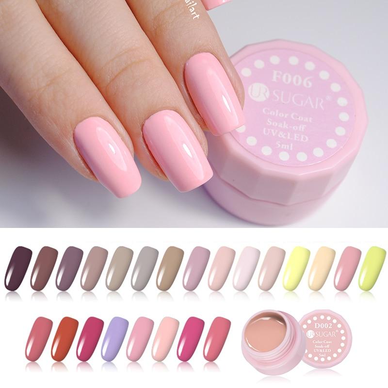 UR SUGAR 9Pcs Nude Pink Red Nail Gel Polish Set Long-lasting Pure ...