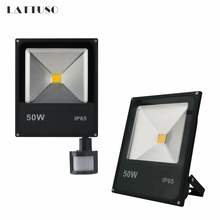 LATTUSO Motion Sensor Led Flood Light 10W 20W 30W 50W Wall Washer Lamp IP65 Waterproof 220V Outdoor Spotlight Floodlight