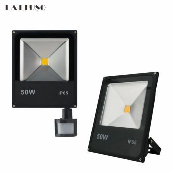 LATTUSO Motion Sensor Led Flood Light 10W 20W 30W 50W Wall Washer Lamp IP65 Waterproof 220V Outdoor Spotlight Floodlight 12x1w 0 5m 50cm ip65 outdoor flood wall washer light lamp blue green yellow red color ce rohs waterproof warranty 5 years