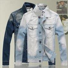 Новая Ретро Классическая джинсовая куртка мужская повседневная тонкая куртка мужская куртка джинсовая куртка плюс размер M-3XL