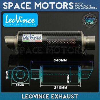 Tuning LEOVINCE Leo, silenciador de tubo de escape de motocicleta Corsa, CB400, CB600, CBR600, CBR1000, CBR250, CBR125, ER6N, ER6R, YZF600, Z750