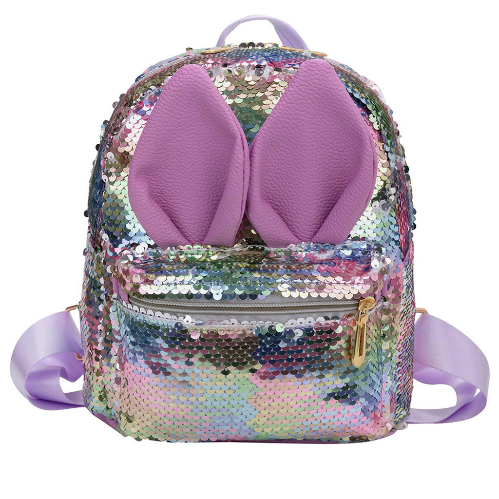 Shining Women Sequins Backpacks Teenage Girls Travel Large Capacity Bags Portable Party Mini School Bags Shoulder Bag For Child