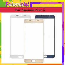 10pcs TouchScreen For Samsung Galaxy Note5 Note 5 N920F N9200 N920 Touch Screen Front Panel Glass Lens Outer Black White Gold oem для samsung galaxy note5 sm n920 n920 объем кабель гибкого трубопровода кнопки для samsung galaxy note5 sm n920