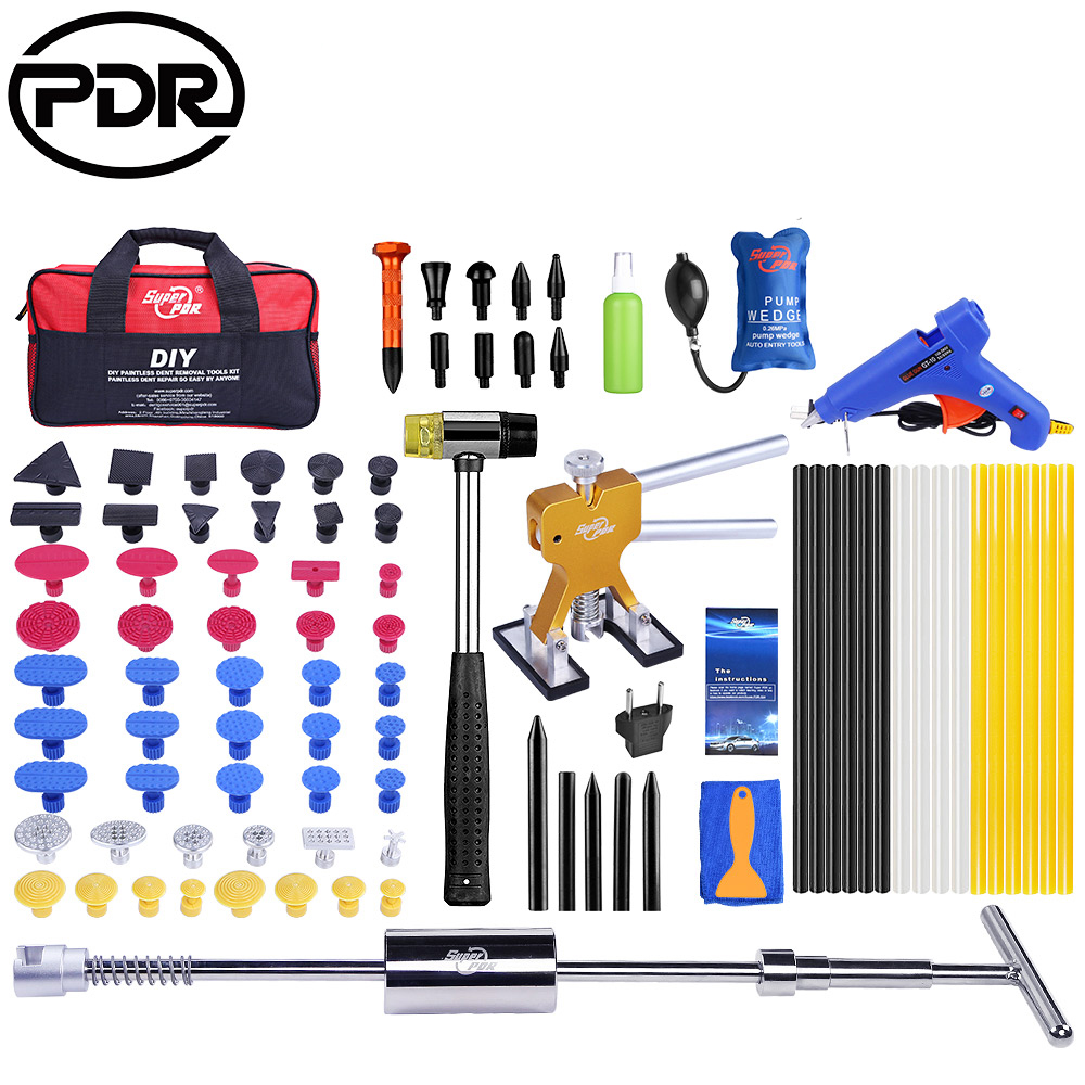 PDR Tools Paintless Dent Repair Tools Dent Removal Auto Repair Tool Dent Puller Kit Mini Lifter Suction Cup For Dent 89pcs/set 14pcs the key with combination ratchet wrench auto repair set of hand tool kit spanners a set of keys herramientas de mano