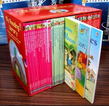 not cloth book English children's   reading liabarary  50pcs/set box packed for gift