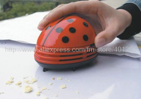 wholesale-5pcs/lot-Lovely mini ladybug vacuum cleaner dust collector Free shipping