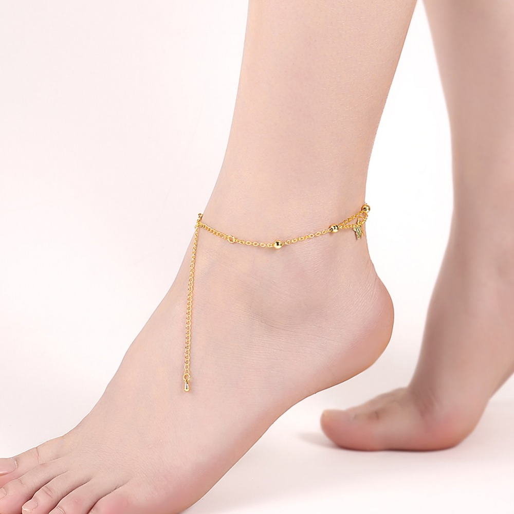on anklet jewelry foot anklets leg chain in butterfly women designer the ankle accessories from new love fashion beach item girl bracelets bracelet