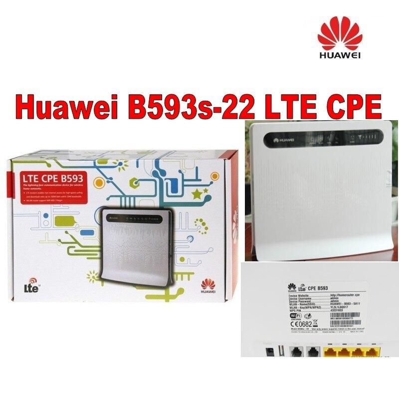 Free shipping+A pair of B593 External Antenna+Huawei B593 Router (B593s-22)