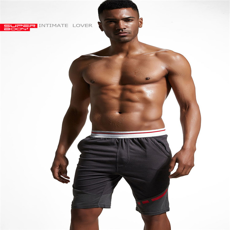 2018 New Brand Mens Cotton Shorts Fitness Workout Boxer Trunks Sweatpants Short Bottoms Casual Cargo Active Jogger Shorts New
