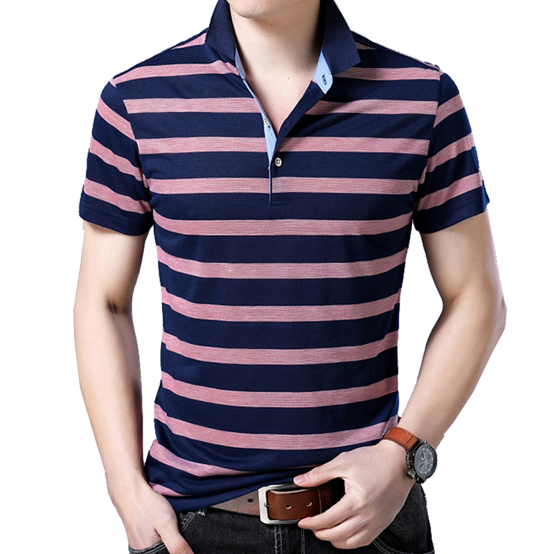 men's Brands   Polo   Shirts Striped High Quality Tops&tees Men   Polo   Shirts Camisa Homme Smart Casual Turn-down Collar Mens   Polo
