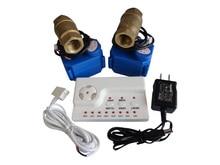 Обнаружение Утечки воды Сигнализация Система с Двумя Медные Клапаны DN15 для Холодной и Горячей Воды Автоматический Переключатель Блокировки Предотвратить Воды потока
