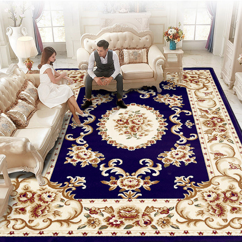 Europe Palace Living Room Carpet Sofa Coffee Table Rug Home Decor Carpet Bedroom Wilton Woven Study Room Floor Mat Thick Rugs