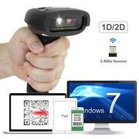 Wireless CCD Barcode Scanner NETUM Handheld Bar Code Reader 2 4GHz Wireless USB2 0 Wired For