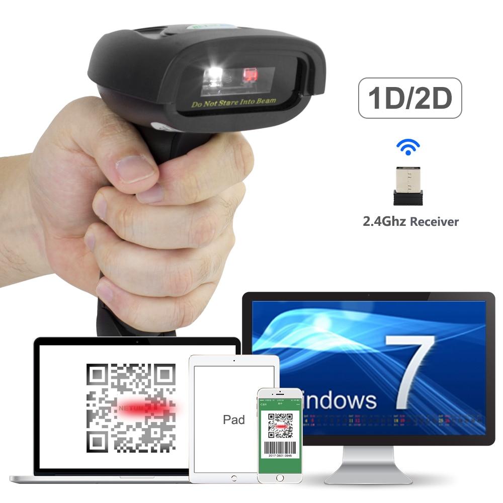NT-1228W Sans Fil 2D QR Barcode Scanner ET NT-1228BC Bluetooth CCD Lecteur ET NT-1228 USB Filaire 2D Scanner Pour Le Paiement Mobile