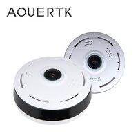 AOUERTK Panorama Kamera 1080P Zwei wege Audio SD Karte Slot WiFi 360 Grad Voll Ansicht WIFI Video IP Kamera wiFi Mini CCTV-in Überwachungskameras aus Sicherheit und Schutz bei