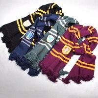 New Magic School Harry Potter Cosplay Cotton Costume Winter Neckerchief Unisex Scarf Scamander Ravenclaw Hufflepuff Cosplay