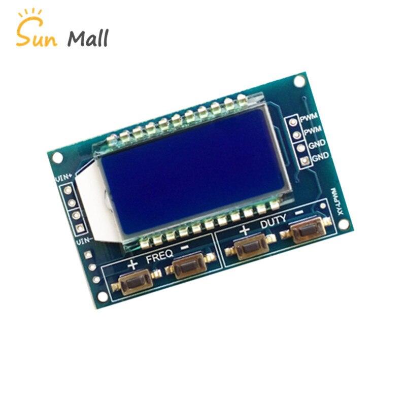 Signal Generator PWM Board Module Pulse Frequency Duty Cycle Adjustable Module LCD Display 1Hz-150Khz 3.3V-30V PWM Board Module adjustable ne555 pulse frequency adjustable module duty cycle module square wave signal generator diy kit