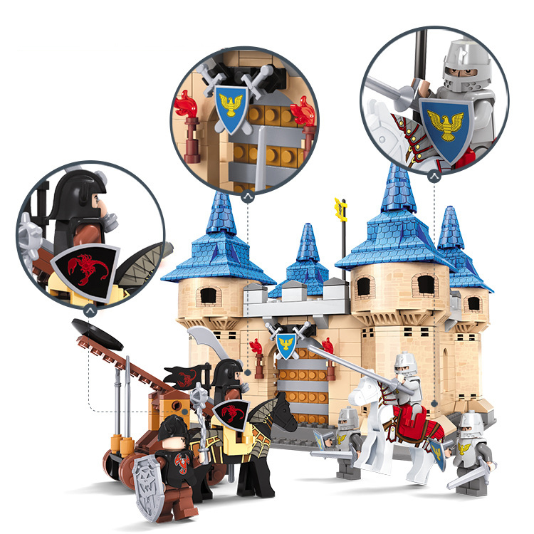 Ausini building block set compatible with loge castle series 057 3D Construction Brick Educational Hobbies Toys for Kids-in Blocks from Toys & Hobbies    1