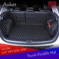 Für Volkswagen VW Golf 7 7,5 MK7 2014-2018 Durable Stamm Matte Cargo-Liner Hinten Schwanz Box Teppiche Volle abdeckung Auto Styling