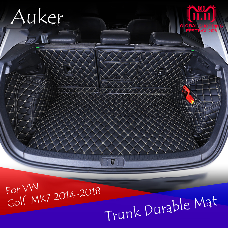 For Volkswagen VW Golf 7 7.5 MK7 2014-2018 Durable Trunk Mat Cargo Liner Rear Tail Box Carpets Full Coverage Car Styling