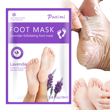 4Pcs=2pack Exfoliating Foot Mask Pedicure Socks Exfoliation for Feet Leg Remove Dead Skin Peeling Lavender Masks