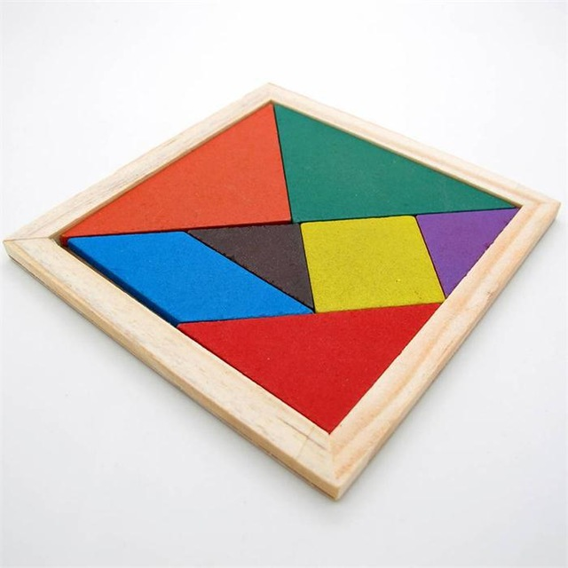 New Hot Sale Children Mental Development Tangram Wooden Jigsaw Puzzle Educational Toys for Kids(China)