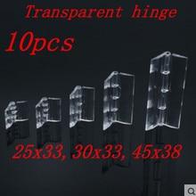 10 шт. 25X33, 30 х 33-38X45 Пластик складывающиеся петли прозрачный Петля из плексигласа долговечный прозрачный акриловый