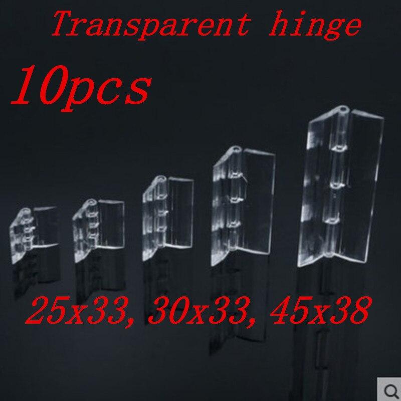 10 Stücke 25x33 30x33 38x45 Kunststoff Klapp Scharniere Transparent Plexiglas Scharnier Durable Klar Acryl Bequemes GefüHl