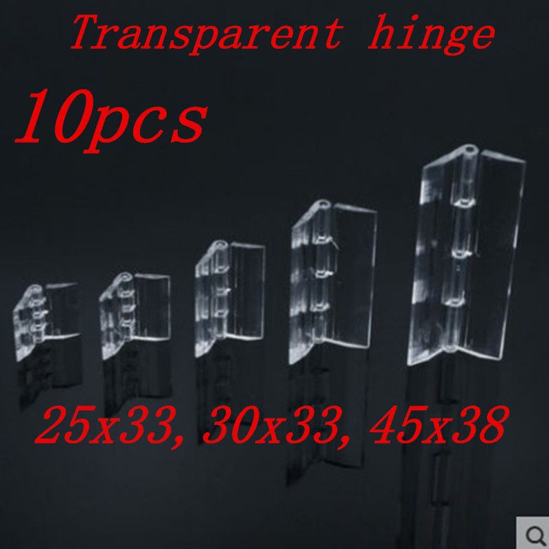 10Pcs 25X33 30X33 38X45 Plastic Folding Hinges Transparent Plexiglass Hinge Durable Clear Acrylic