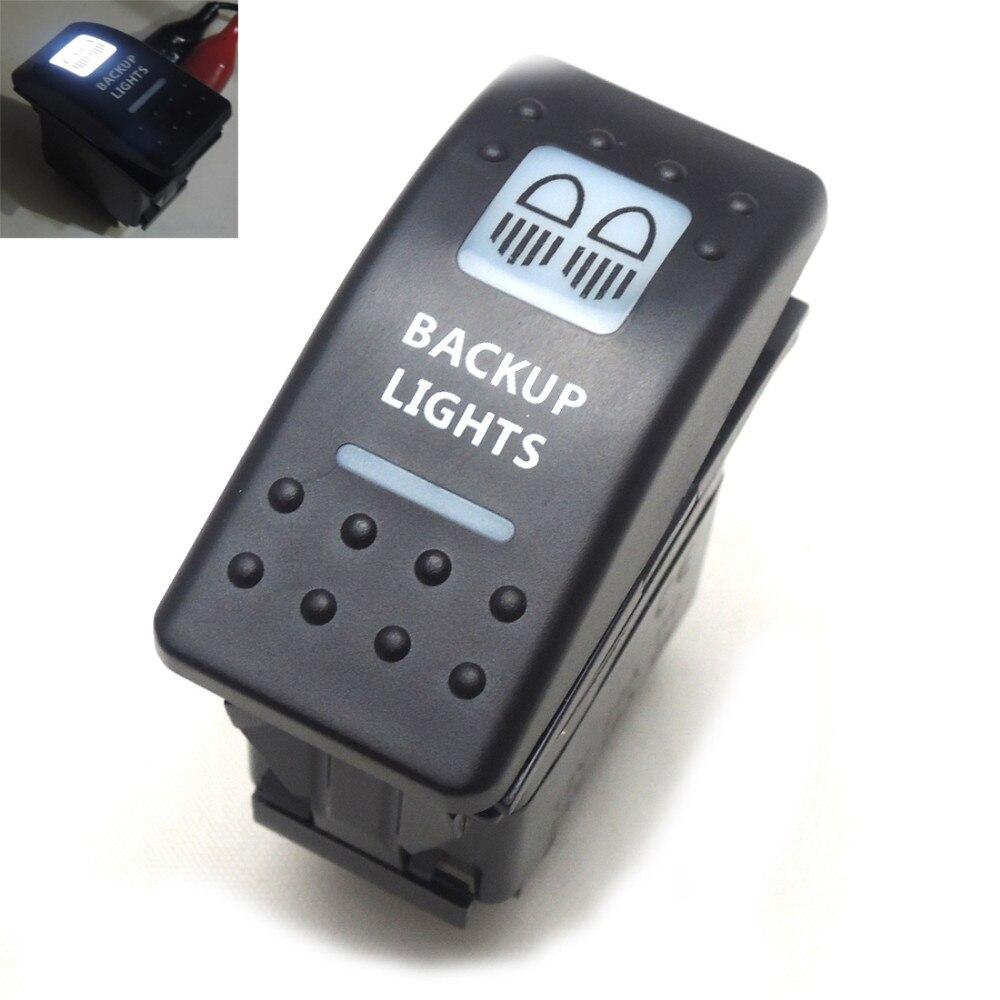 POLARIS RZR XP1000 BACKLIT LASER WHITE BACKUP LIGHTS SWITCH UTV ATV