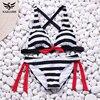 NAKIAEOI 2018 Sexy Bikinis Women Swimsuit Swimwear Halter Top Plaid Brazillian Bikini Set Bathing Suit Summer Beach Wear Biquini 5