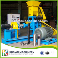 1-12mm small Floating fish feed pellet making extruder machine prices