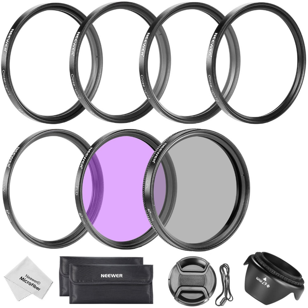 Neewer 67MM Professional Lens Filter+Close-up Macro <font><b>Accessory</b></font> Kit for <font><b>CANON</b></font> <font><b>EOS</b></font> 700D 650D 600D <font><b>550D</b></font> 70D 60D 7D 6D DSLR Cameras image