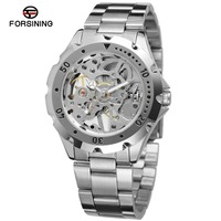 Stainless Steel Men Wristwatch Luxury Brand FORSINING Men S Mechanical Watch Hollow Engraving Top Quality F120568